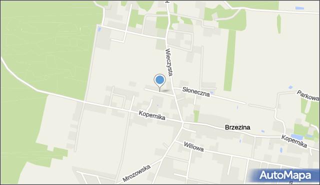 Brzezina gmina Miękinia, Sezamkowa, mapa Brzezina gmina Miękinia