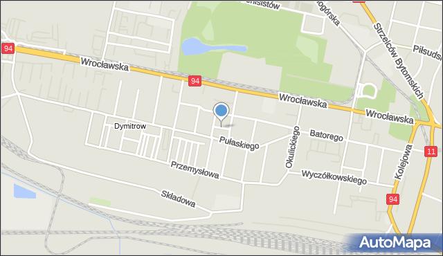 Bytom, Sendlerowej Ireny, mapa Bytomia