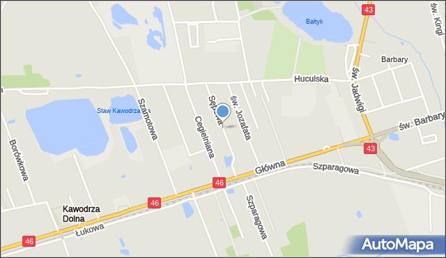 Częstochowa, Sępowa, mapa Częstochowy