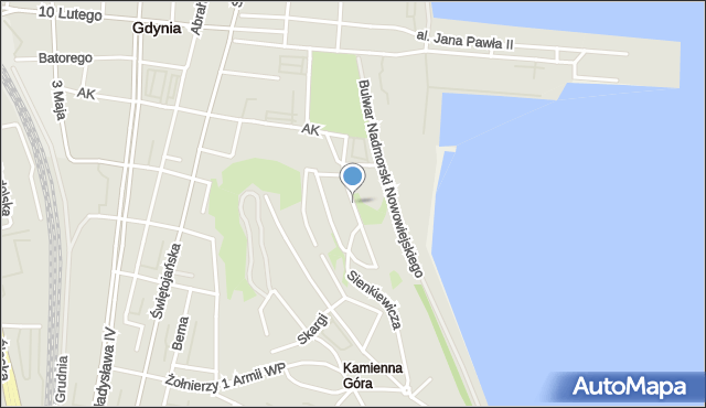 Gdynia, Sędzickiego Franciszka, mapa Gdyni