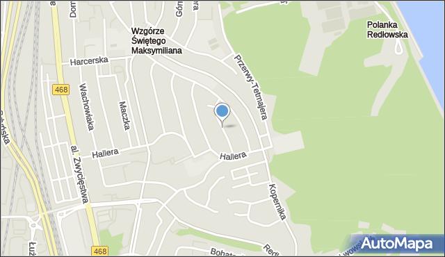 Gdynia, Senatorska, mapa Gdyni