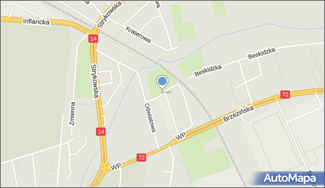Łódź, Setna, mapa Łodzi
