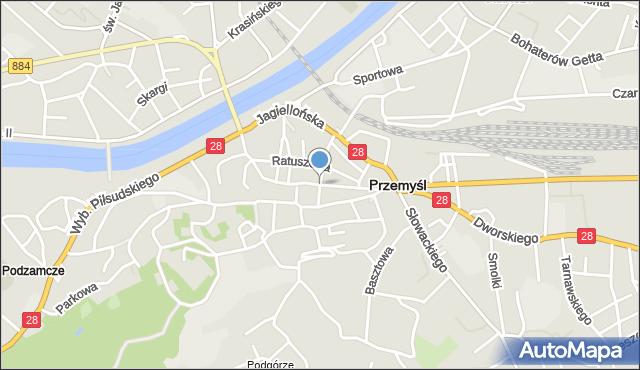 Przemyśl, Serbańska, mapa Przemyśla