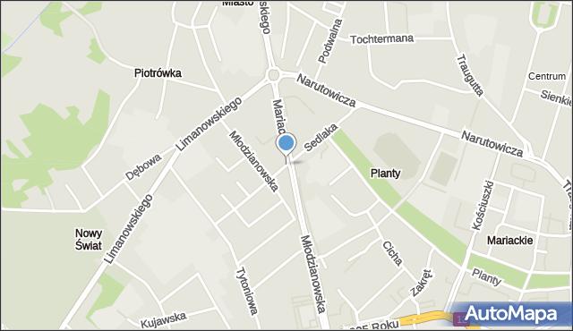 Radom, Sedlaka Włodzimierza, ks. prof., mapa Radomia
