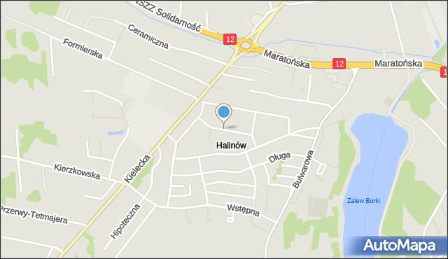 Radom, Senatorska, mapa Radomia