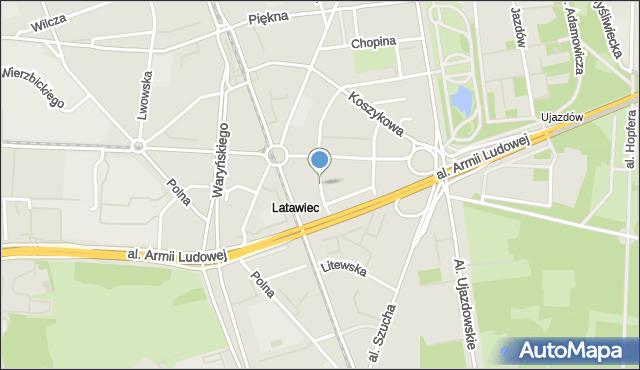 Warszawa, Sempołowskiej Stefanii, mapa Warszawy