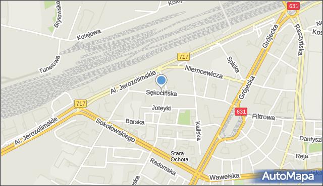 Warszawa, Sękocińska, mapa Warszawy