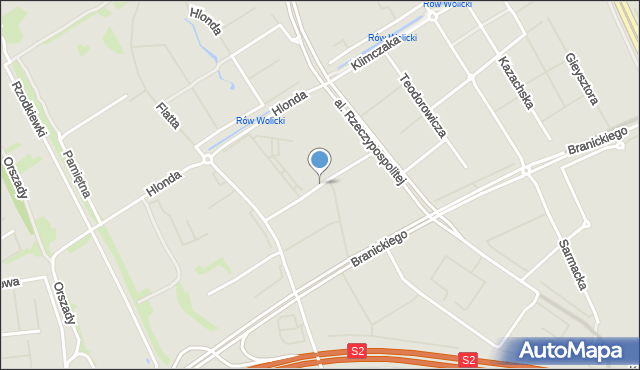 Warszawa, Sejmu Czteroletniego, mapa Warszawy
