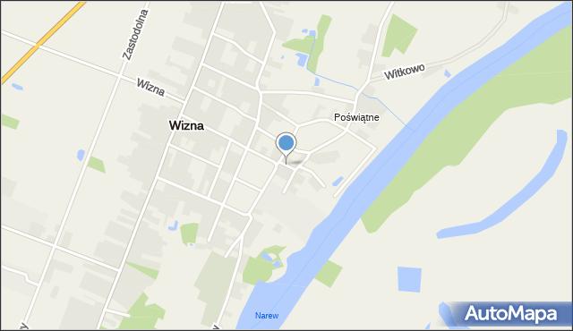 Wizna, Senatorska, mapa Wizna