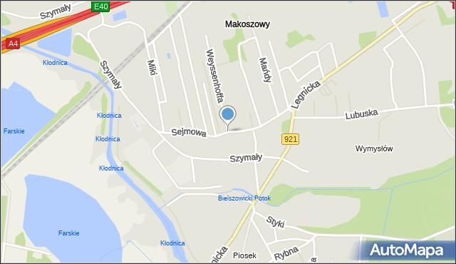 Zabrze, Sejmowa, mapa Zabrza