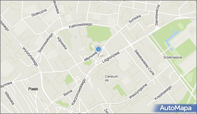 Białystok, Sienny Rynek, mapa Białegostoku