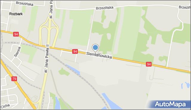 Bytom, Siemianowicka, mapa Bytomia