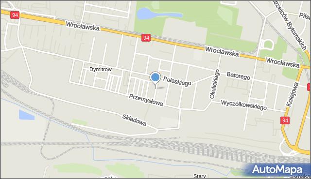Bytom, Siemiradzkiego Henryka, mapa Bytomia