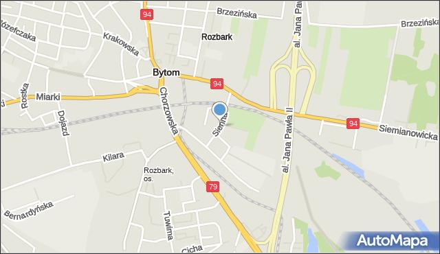 Bytom, Sienna, mapa Bytomia