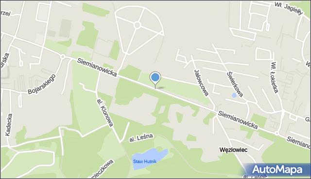 Chorzów, Siemianowicka, mapa Chorzów