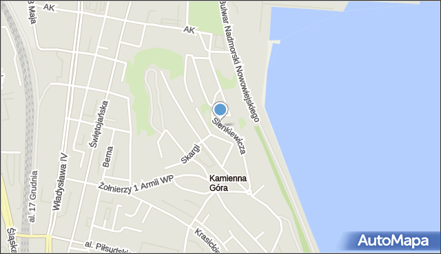 Gdynia, Sienkiewicza Henryka, mapa Gdyni