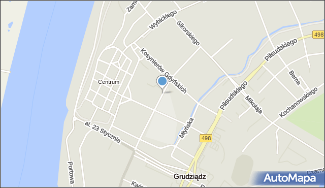 Grudziądz, Sienkiewicza Henryka, mapa Grudziądza