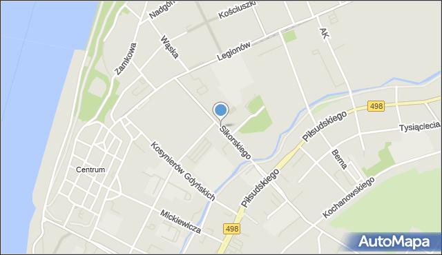 Grudziądz, Sikorskiego Władysława, gen., mapa Grudziądza