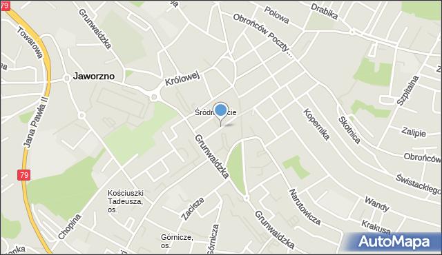 Jaworzno, Sienkiewicza Henryka, mapa Jaworzno