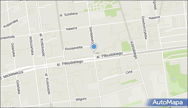 Łódź, Sienkiewicza Henryka, mapa Łodzi