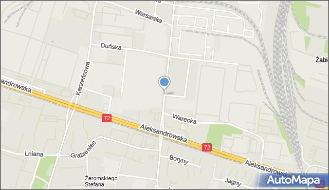 Łódź, Sierpowa, mapa Łodzi