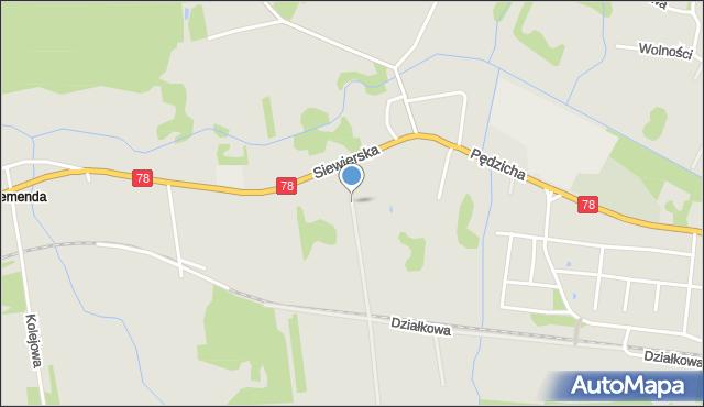Poręba powiat zawierciański, Siewierska, mapa Poręba powiat zawierciański