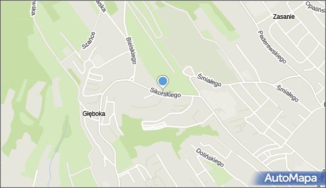 Przemyśl, Sikorskiego Władysława, gen., mapa Przemyśla