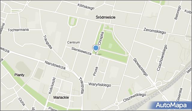 Radom, Sienkiewicza Henryka, mapa Radomia