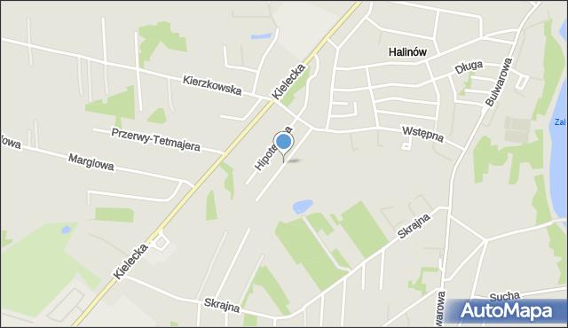 Radom, Siarczyńskiego Franciszka, ks., mapa Radomia