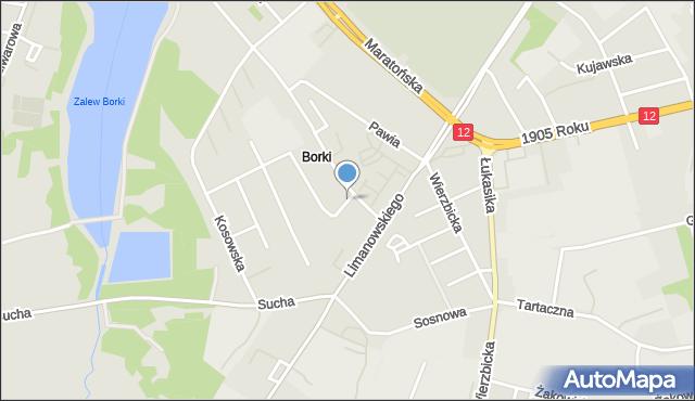 Radom, Sikorskiego Władysława, gen., mapa Radomia