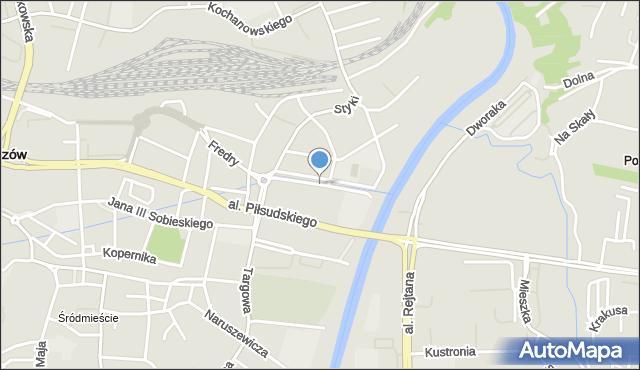 Rzeszów, Siemiradzkiego Henryka, mapa Rzeszów