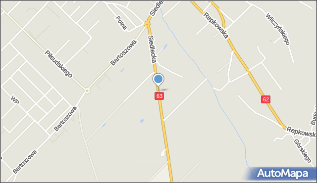 Sokołów Podlaski, Siedlecka, mapa Sokołów Podlaski