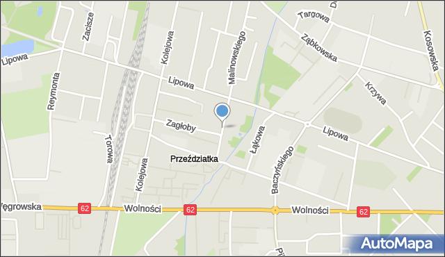 Sokołów Podlaski, Sienkiewicza Henryka, mapa Sokołów Podlaski