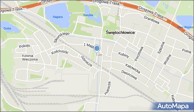Świętochłowice, Sienkiewicza Henryka, mapa Świętochłowice