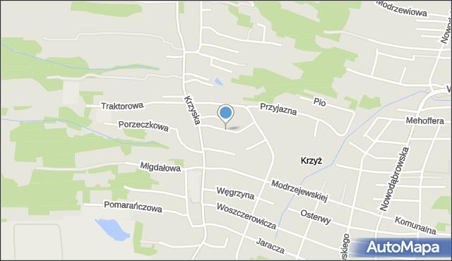 Tarnów, Siemiradzkiego Henryka, mapa Tarnów