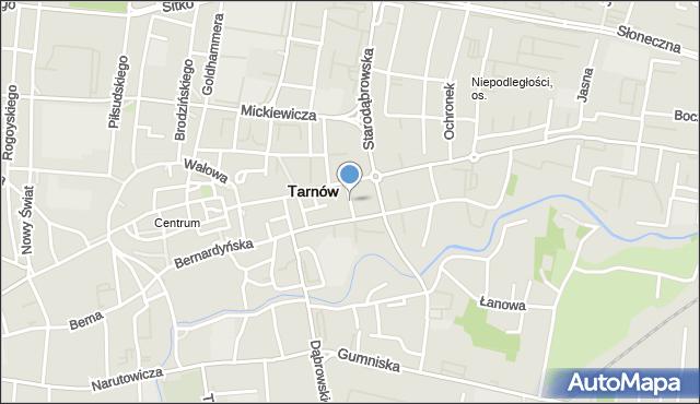 Tarnów, Sienna, mapa Tarnów
