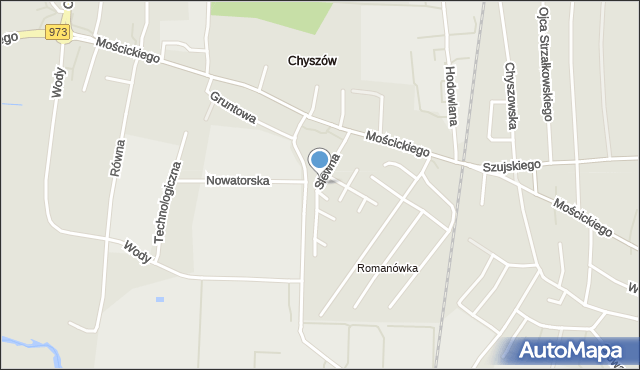 Tarnów, Siewna, mapa Tarnów