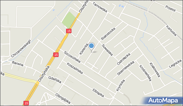 Toruń, Siedlecka, mapa Torunia