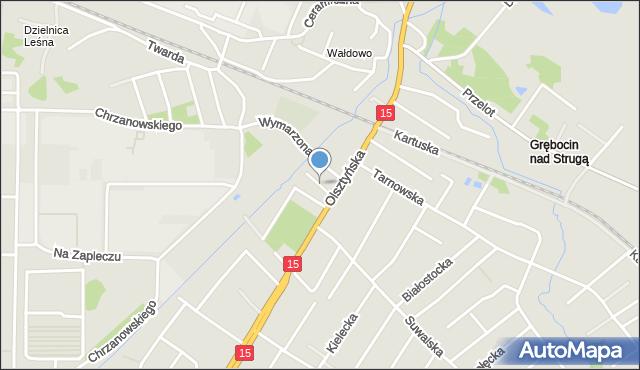 Toruń, Sielska, mapa Torunia