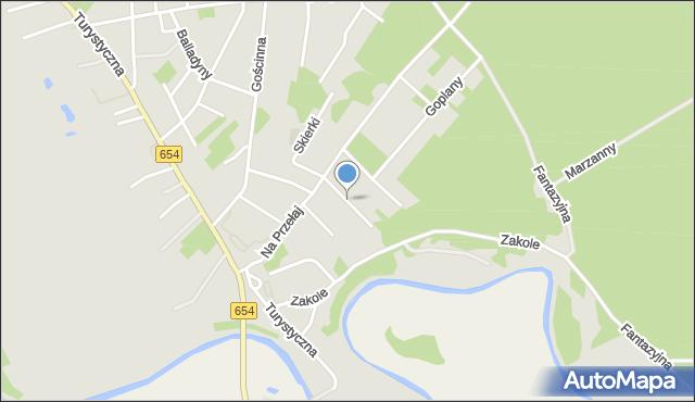 Toruń, Sindbada, mapa Torunia