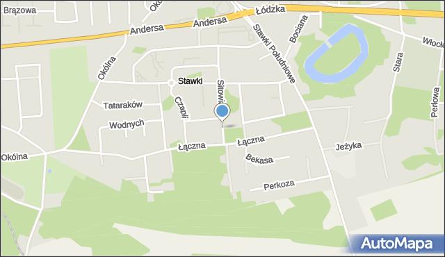 Toruń, Sitowia, mapa Torunia