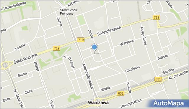 Warszawa, Sienkiewicza Henryka, mapa Warszawy
