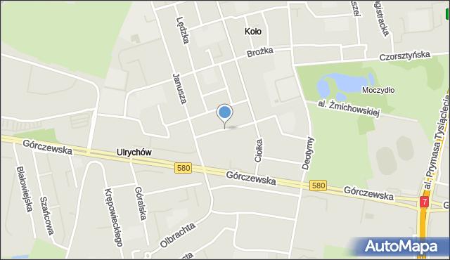 Warszawa, Siedzikówny Danuty, mapa Warszawy
