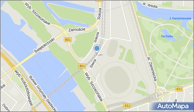 Warszawa, Siwca Ryszarda, mapa Warszawy