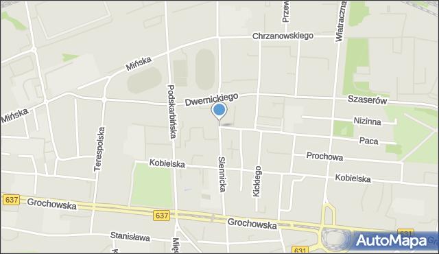 Warszawa, Siennicka, mapa Warszawy