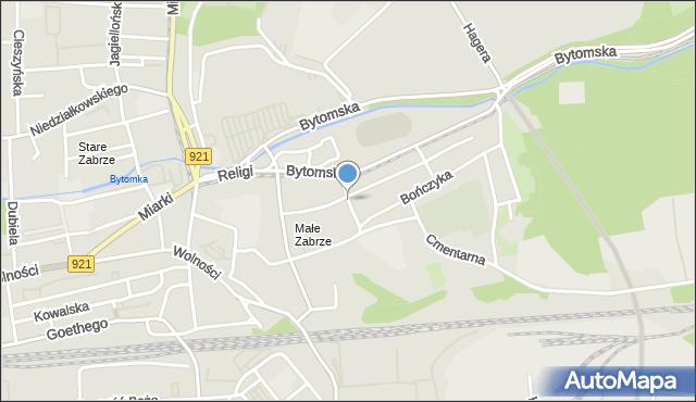 Zabrze, Siedleckiego Franciszka, mapa Zabrza