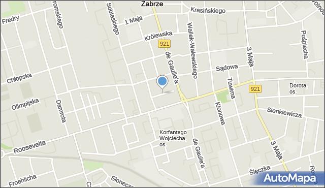 Zabrze, Sierotki, mapa Zabrza