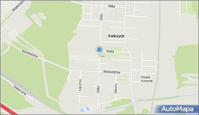 Zabrze, Sitki Konrada, mapa Zabrza