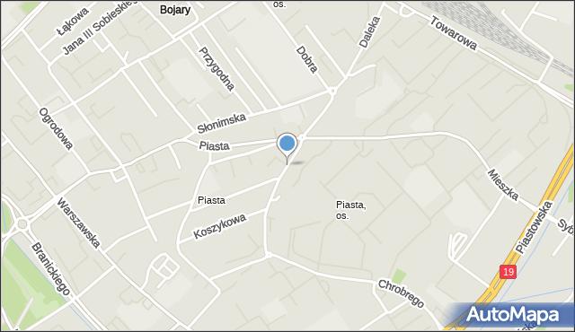 Białystok, Skorupska, mapa Białegostoku