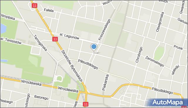 Bytom, Skwer Bartosika Tadeusza, pkom., mapa Bytomia